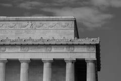 Het gedenkteken van Lincoln in Washington DC stock afbeelding