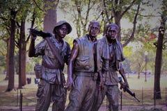 Het Gedenkteken van Vietnam in Washington DC stock fotografie