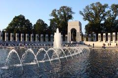 Het Gedenkteken van WO.II in Washington DC Stock Foto