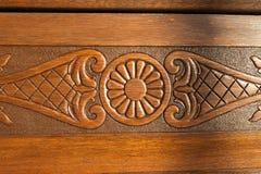 Het gedetailleerde houten werk en het snijden in een kerk stock foto's