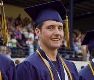 Het gediplomeerde deelnemen aan graduatieceremonie royalty-vrije stock foto's