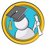 Het gediplomeerde Diploma van de Holding Stock Afbeeldingen