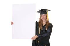 Het gediplomeerde Teken van de Holding stock foto