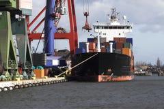 Het gedokte Schip van de Container Stock Afbeelding