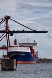Het gedokte Schip van de Container Royalty-vrije Stock Fotografie