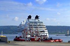 Het gedokte Schip van de Cruise Royalty-vrije Stock Foto