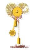 Het gedrag van de klok het tellen uit het leven. Stock Fotografie
