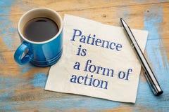 Het geduld is een vorm van actie royalty-vrije stock foto