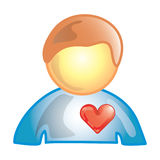Het geduldige pictogram van het hart vector illustratie