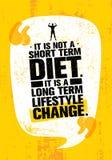 Het is geen Kort Tijddieet Het is een Levensstijlverandering Op lange termijn Het Citaat van de voedingsmotivatie Stock Foto's