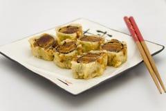 Het gefrituurde broodje van de Tonijn Stock Afbeelding