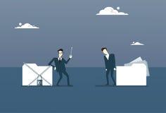 Het Gegevensbestand van zakenmanholding key from, Collectief Gegevensbeschermingconcept Royalty-vrije Stock Afbeeldingen