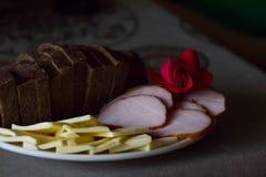 Het gehakte voedsel met nam toe Stock Foto's