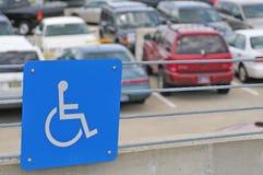 Het gehandicapte parkeren Stock Afbeeldingen