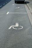 Het gehandicapte Parkeren Royalty-vrije Stock Afbeelding