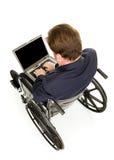 Het gehandicapte Typen van de Zakenman stock fotografie
