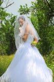 Het geheim van de vooravond (bruidportret) stock foto