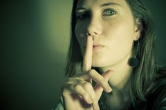 Het geheim van de vrouw Stock Foto's