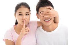 Het geheim van Lover?s Royalty-vrije Stock Foto