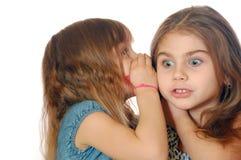 Het geheim van meisjes Stock Foto