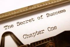 Het geheim van succes Stock Foto's