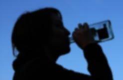 Het geheime Drinken Stock Afbeeldingen