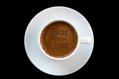 Het geheime ingrediënt van Griekse koffie is liefde Royalty-vrije Stock Afbeelding