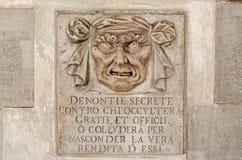 Het geheime vakje van de beschuldigingenbrief, Venetië royalty-vrije stock afbeeldingen