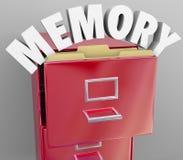 Het geheugen die aan het Terugwinnen herinneren herinnert Dossierkabinet vector illustratie
