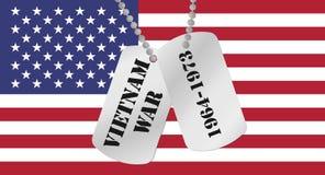 Het geheugen van de Oorlog van Vietnam vector illustratie