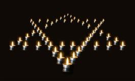 Het geheugen van de slachtoffers van de Holocaust Stock Foto's