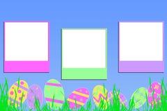 Het geheugen van Pasen op blauw Stock Fotografie