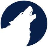 Het Gehuil van de wolf stock illustratie