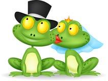 Het gehuwde kikker kussen stock illustratie