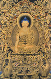Het gekenmerkte traditionele schilderen van Tibet Royalty-vrije Stock Afbeelding