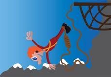 Het gekke Bungee-Springen royalty-vrije illustratie