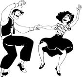 Het gekke dansen royalty-vrije illustratie
