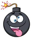 Het gekke Karakter van de het Beeldverhaalmascotte van het Bomgezicht met Uitdrukkingen Stock Afbeelding