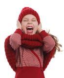 Het gekke kind luid gillen uit Royalty-vrije Stock Foto's