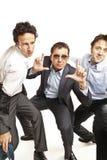 Het gekke zakenlieden dansen royalty-vrije stock foto