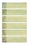 Het gekleurde af:drukken van de inktbloem op bamboedocument banners Stock Afbeelding