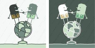Het gekleurde beeldverhaal van de wereld vriendschap Stock Afbeelding