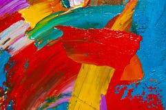 Het gekleurde Canvas van de Olie Royalty-vrije Stock Afbeeldingen