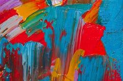 Het gekleurde Canvas van de Olie Stock Foto
