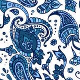 Het gekleurde Indische patroon van Paisley Royalty-vrije Illustratie