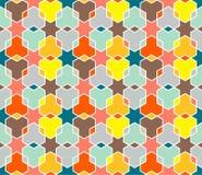 Het gekleurde Patroon van de Ster Royalty-vrije Stock Foto's