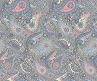 Het gekleurde patroon van Paisley royalty-vrije illustratie
