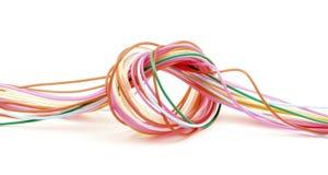 Het gekleurde plastiek van de knoop draad Royalty-vrije Stock Foto