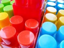 Het gekleurde spel van textuurlego Royalty-vrije Stock Fotografie
