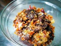 Het gekookte daging perkasam, vergist vlees Royalty-vrije Stock Foto's
